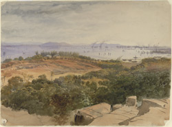 View of Bombay Harbour. January 1870 1071